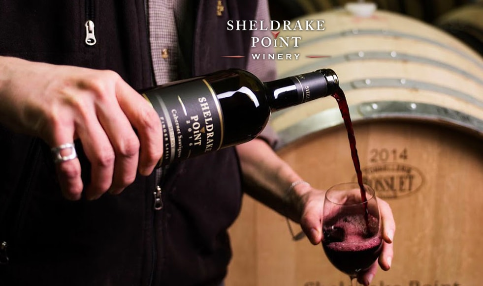 Dinners in the Dark with Sheldrake Point Winery!