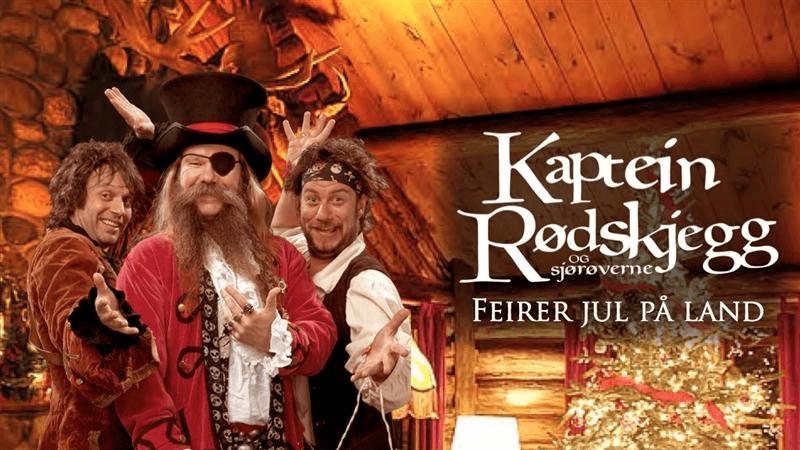 Kaptein Rødskjegg feirer jul på land