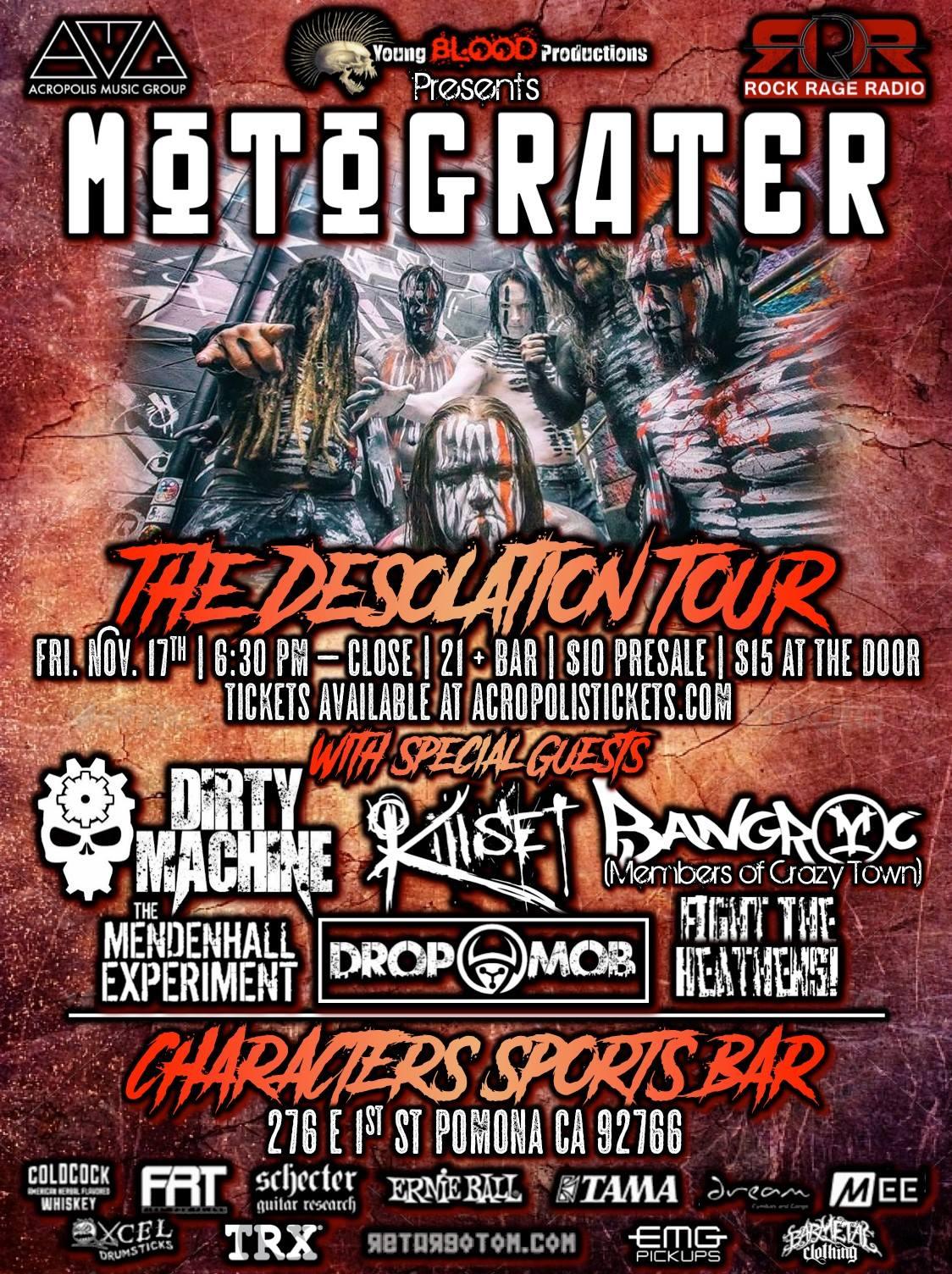 MOTOGRATER - The Desolation Tour