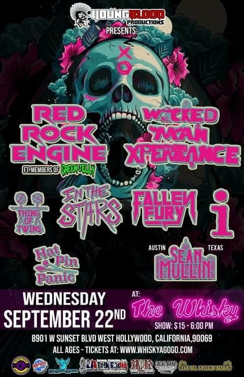 RED ROCK ENGINE (ft. members of GREEN JELLY) with Wicked Man Xperience, Thing of Twins, In the Stars, Fallen Fury, i, Hat Pin Panic & introducing Sean Mullin
