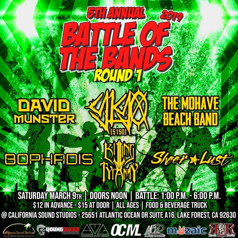 Wright Records 5th Annual Battle of the Bands: Round 1, Show #2