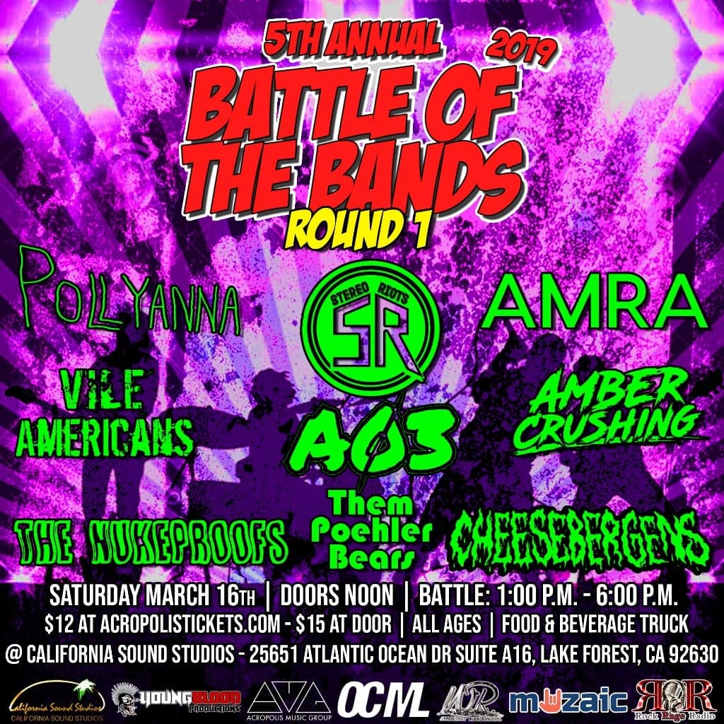 Wright Records 5th Annual Battle of the Bands: Round 1, Show #3