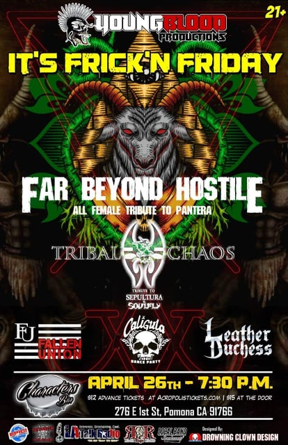 Live tributes to PANTERA, SEPULTURA, SOULFLY plus special original guests!