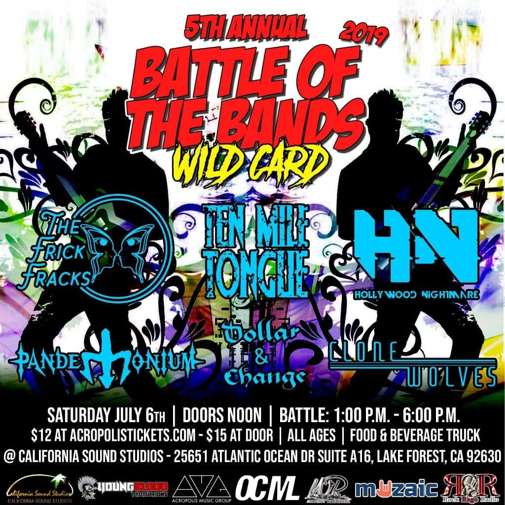 Wright Records 5th Annual Battle of the Bands: WILD CARD ROUND 7/6