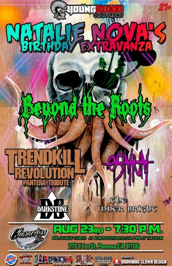 NATALIE NOVA'S BIRTHDAY EXTRAVAGANZA ft. Beyond the Roots, Trendkill Revolution (PANTERA tribute) +special guests