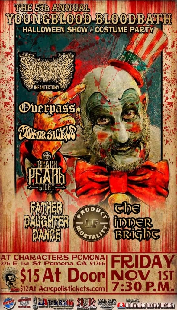 5th Annual YOUNGBLOOD BLOODBATH Halloween Show & Costume Party