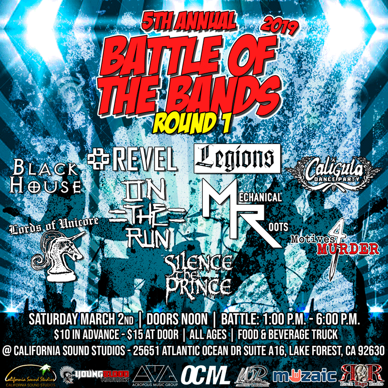 Wright Records 5th Annual Battle of the Bands: Round 1, Show #1