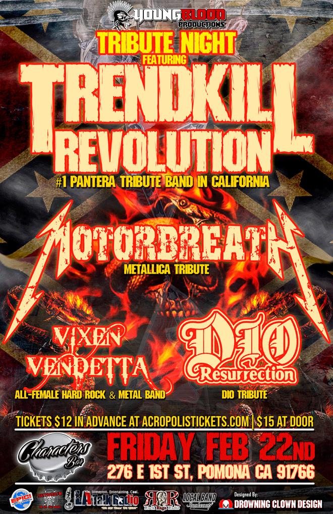 Tribute Night to Pantera, Metallica, DIO & other Metal