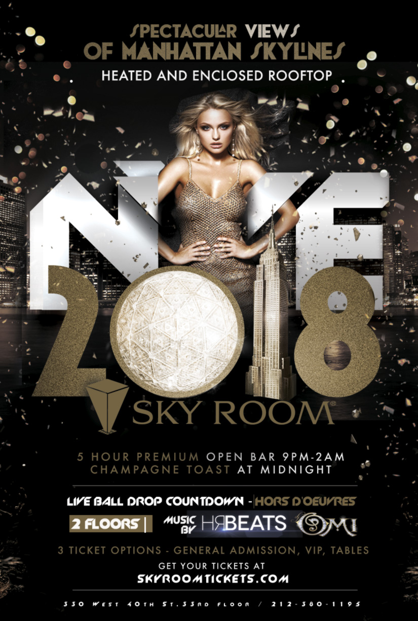 New Year's Eve 2018 at Sky Room Times Square