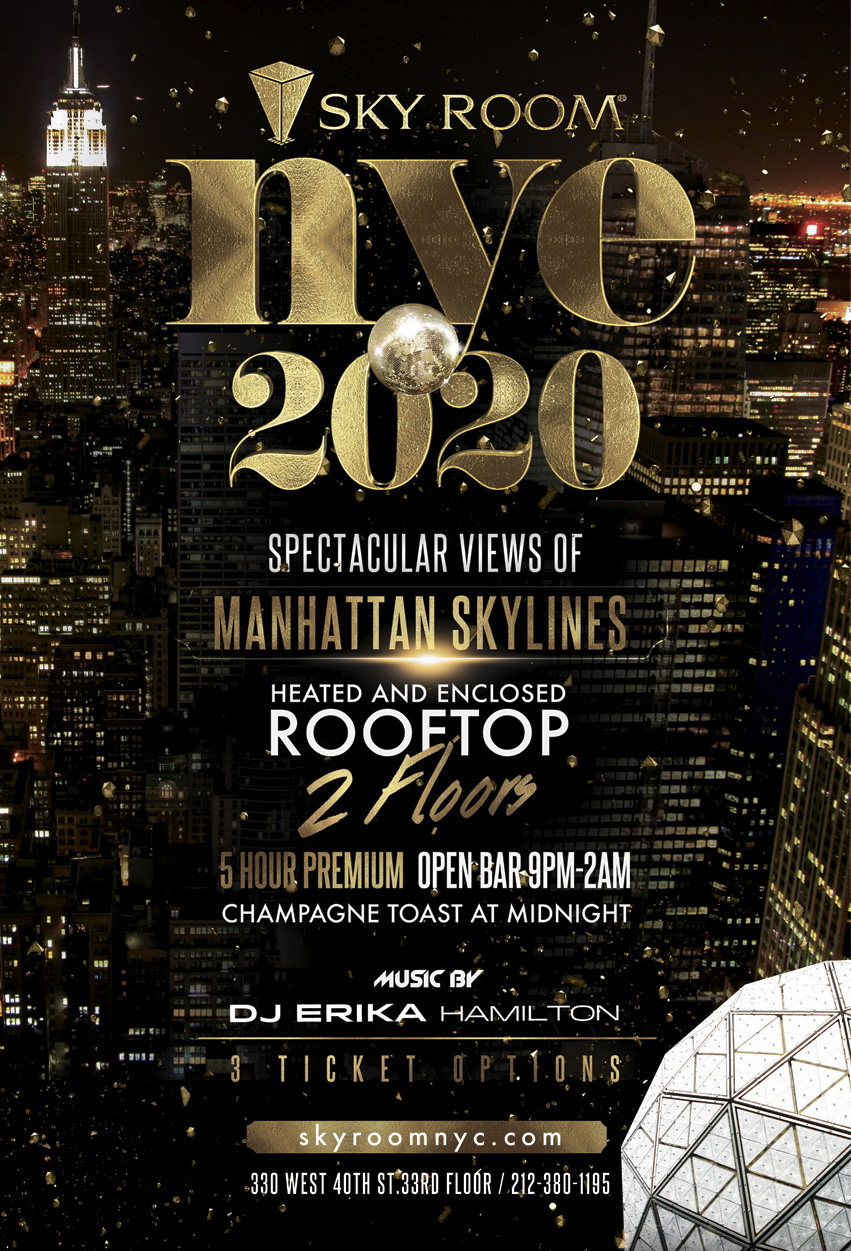New Years Eve 2020 Events.Sky Room Times Square Events