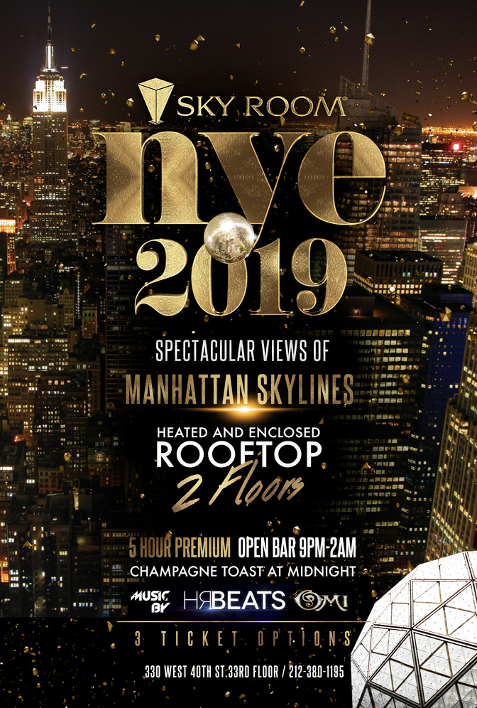 New Year's Eve 2019 at Sky Room