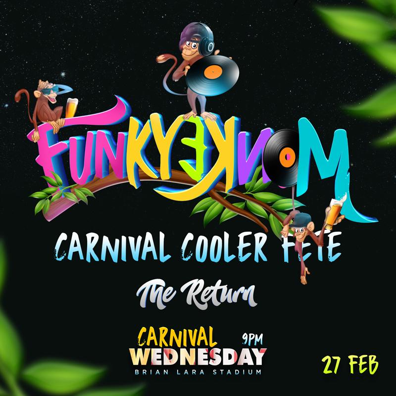 Funky Monkey Carnival Cooler Fete