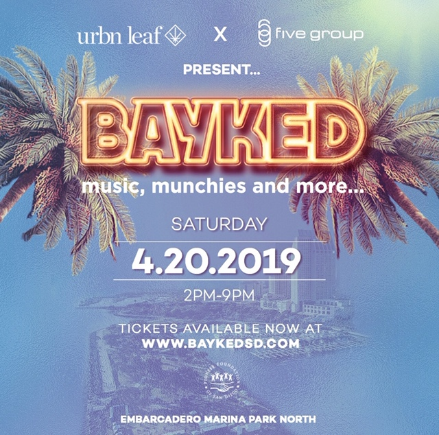 Bayked Food & Music Festival on Saturday April 20th, 2019.
