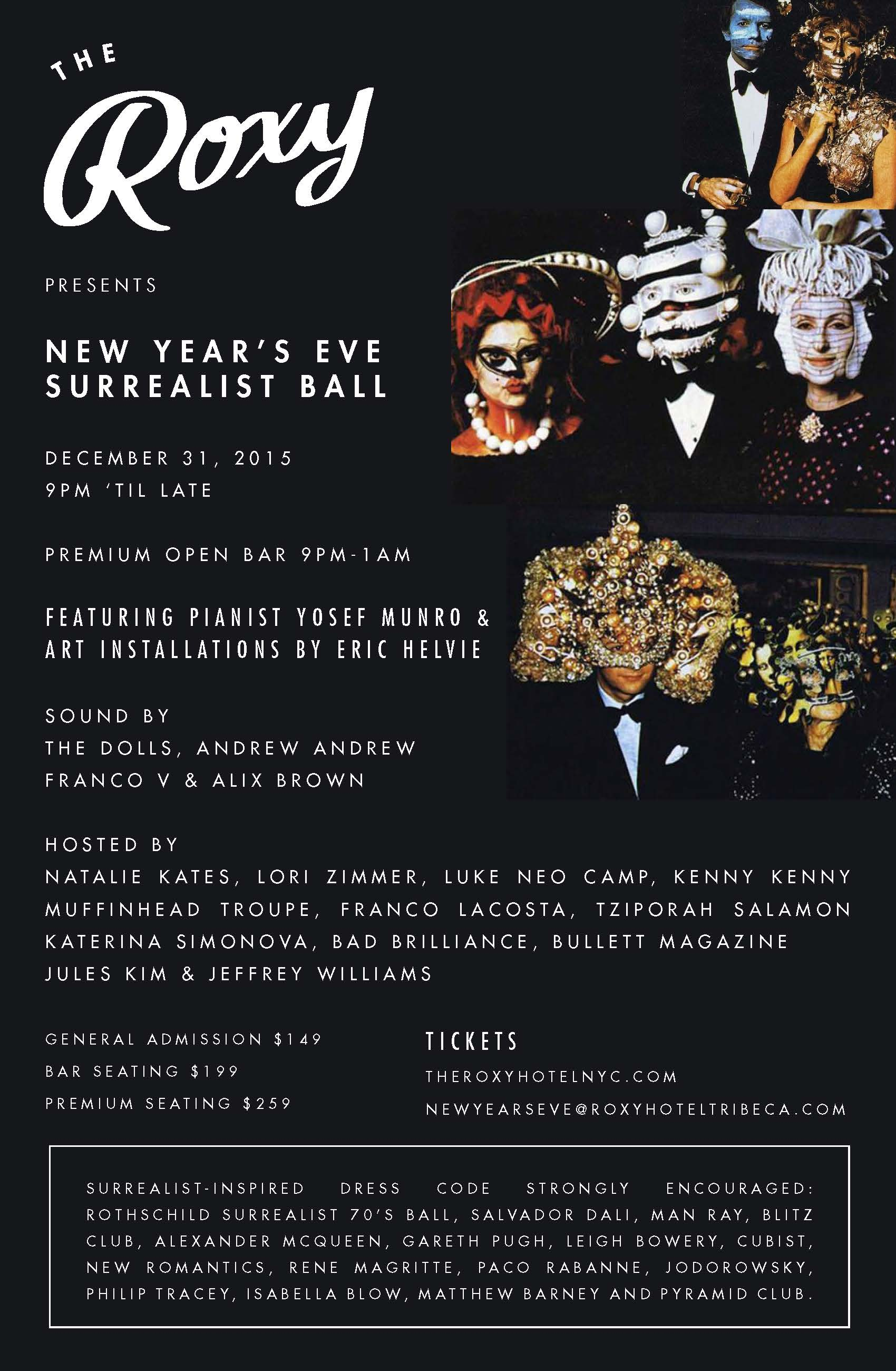 The Roxy Presents : The Surrealist Art Ball