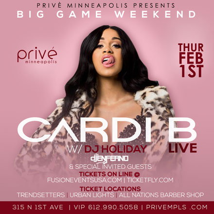 Cardi B w/ DJ Holiday LIVE (Big Game Weekend)