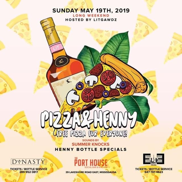 Pizza & Henny party