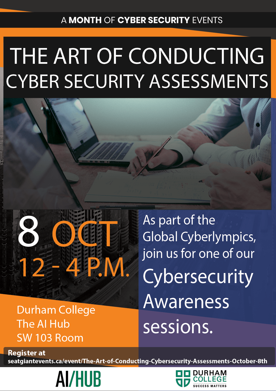 The Art of Conducting Cybersecurity Assessments October 8th