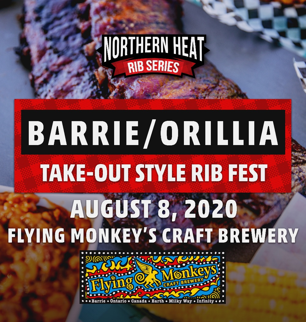 BARRIE ORILLIA TAKE-OUT STYLE RIB FEST - AUGUST 8TH