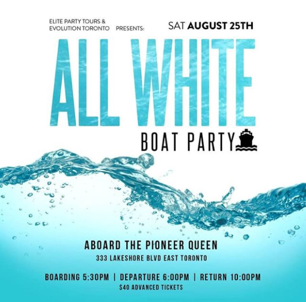 ALL WHITE Boat Party