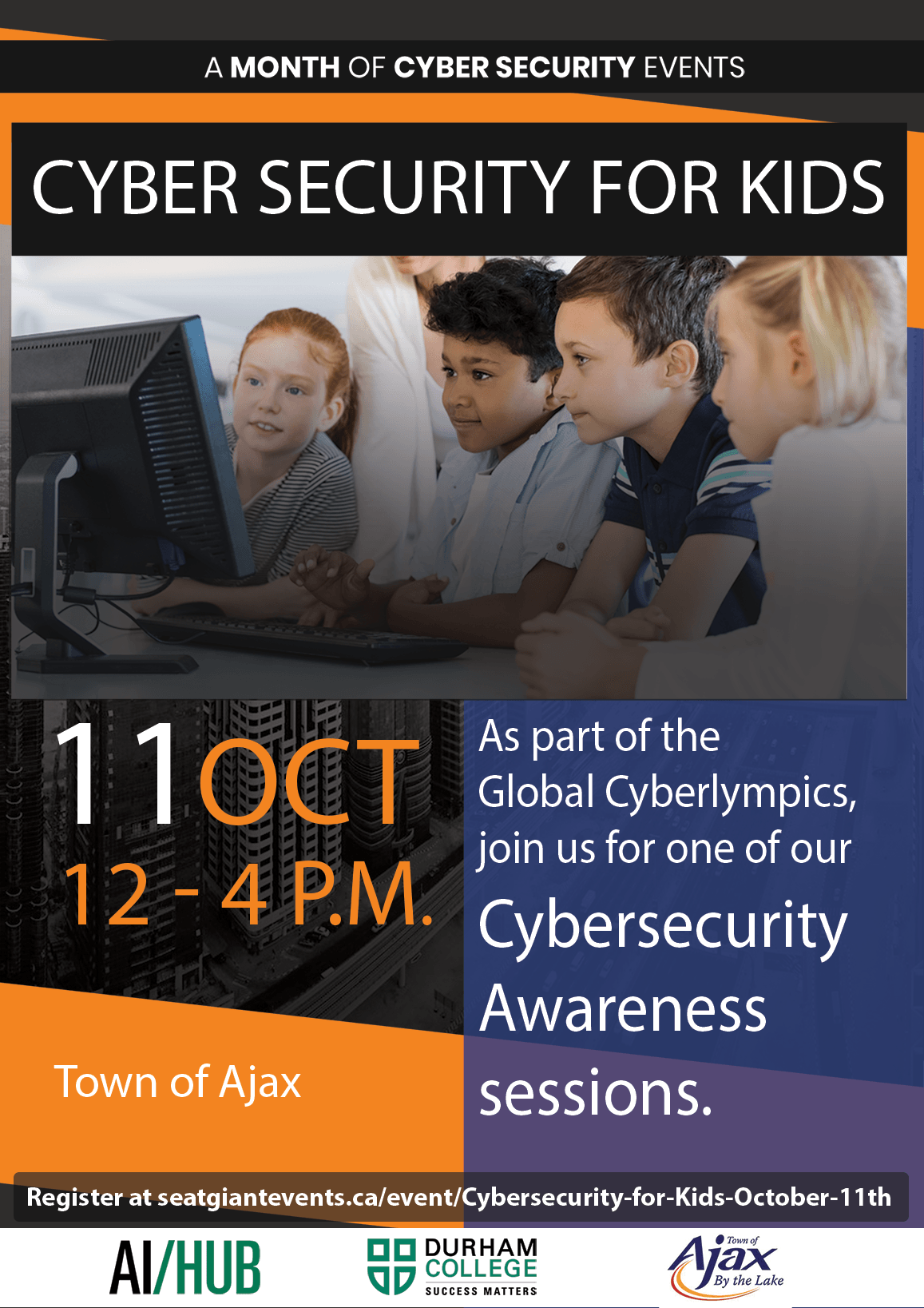 Cybersecurity for Kids October 11th