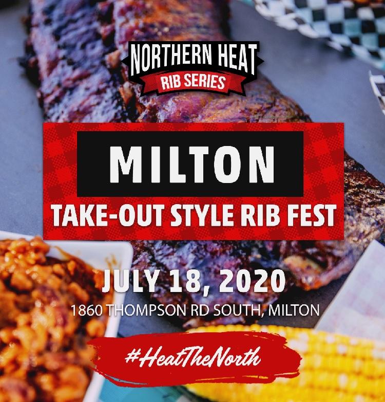 MILTON TAKE-OUT STYLE RIB FEST - JULY 18