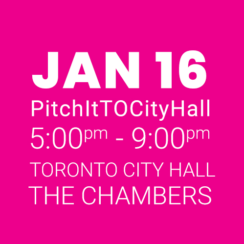 #PitchItTOCityHall JAN 16