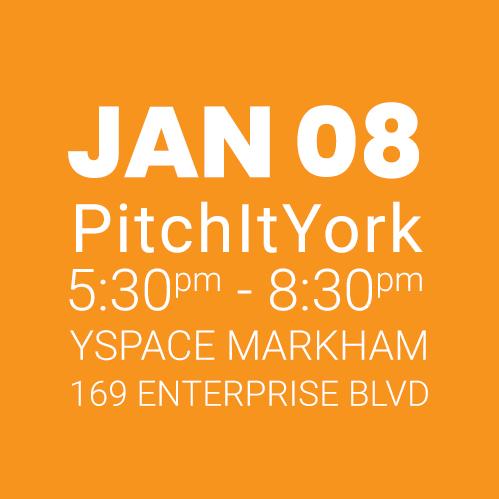 #PitchItYork YSpace JAN 08