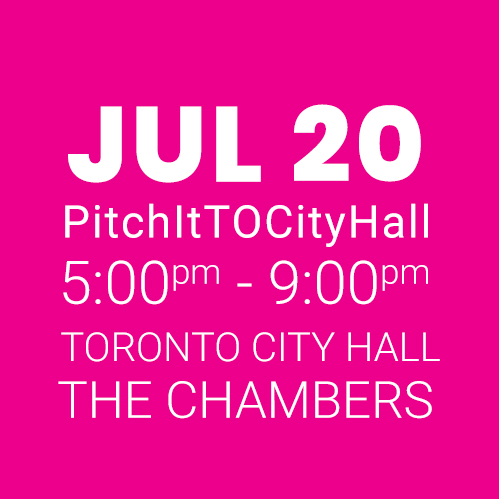 #PitchItTOCityHall JULY 20