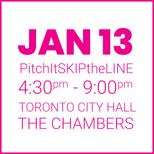 #PitchIt-SKIPtheLINE JAN 13