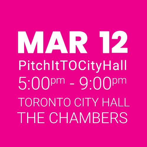 #PitchItTOCityHall MAR 12