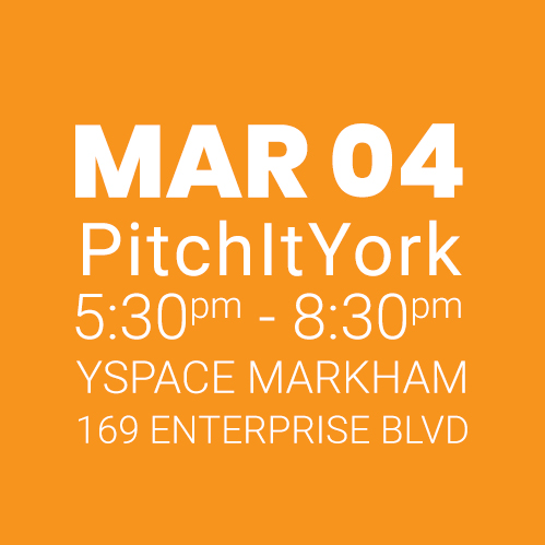 #PitchItYork YSpace MAR 04