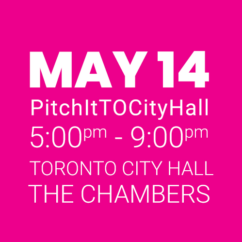 #PitchItTOCityHall MAY 14