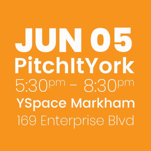 #PitchItYork YSpace JUNE 5