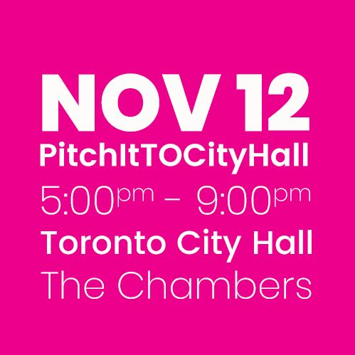 #PitchItTOCityHall NOV 12