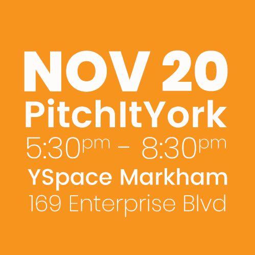 #PitchItYork YSpace NOV 20