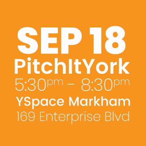 #PitchItYork YSpace SEPT 18