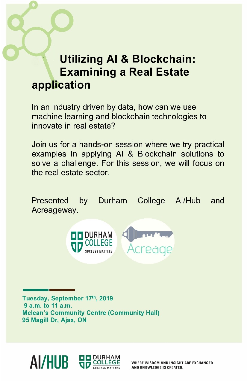 Utilizing AI & Blockchain: Examining a Real Estate Application