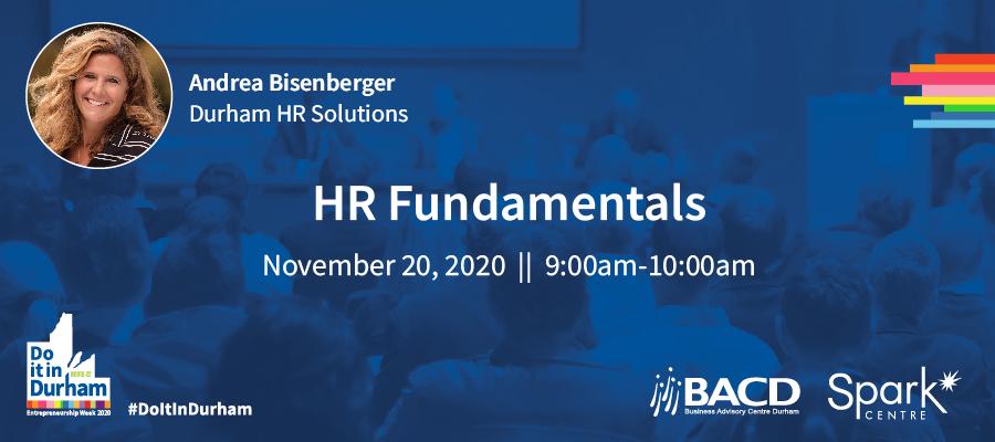 HR Workshop - HR Fundamentals - November 20