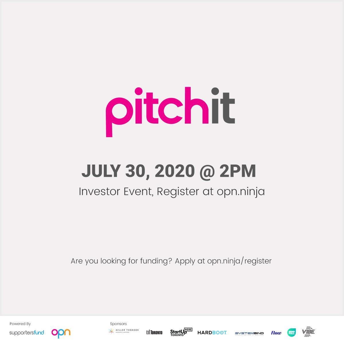 #PitchItSkiptheline JULY 30