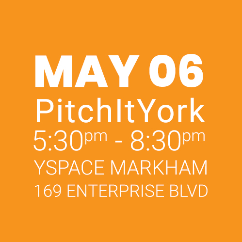 #PitchItYork YSpace MAY 06