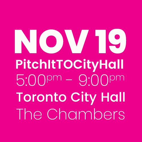 #PitchItTOCityHall NOV 19