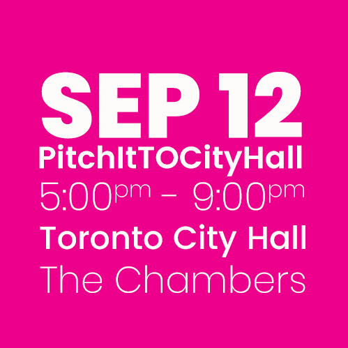 #PitchItTOCityHall SEPT 12