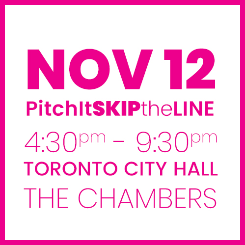 #PitchIt-SKIPtheLINE NOV 12