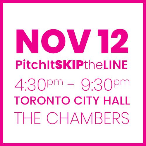 #PitchIt-SKIPtheLINE NOV 12