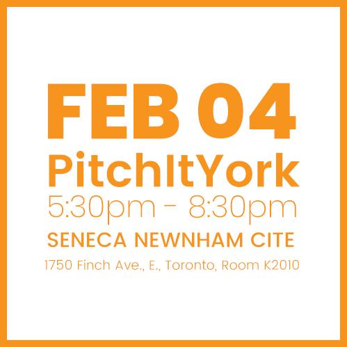 #PitchItYork FEB 04