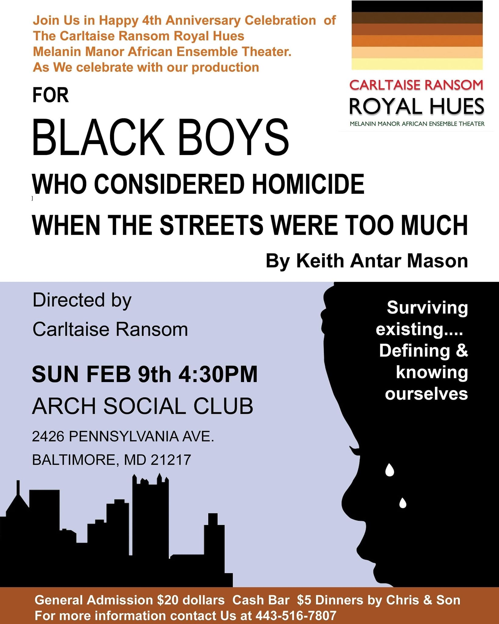 For Black Boys Who Considered Homicide When The Streets Were Too Much