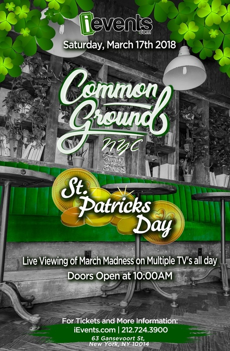St Patricks Day at Common Ground