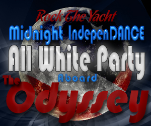 Rock the Yacht: Midnight IndepenDANCE All White Yacht Party Aboard the Odyssey