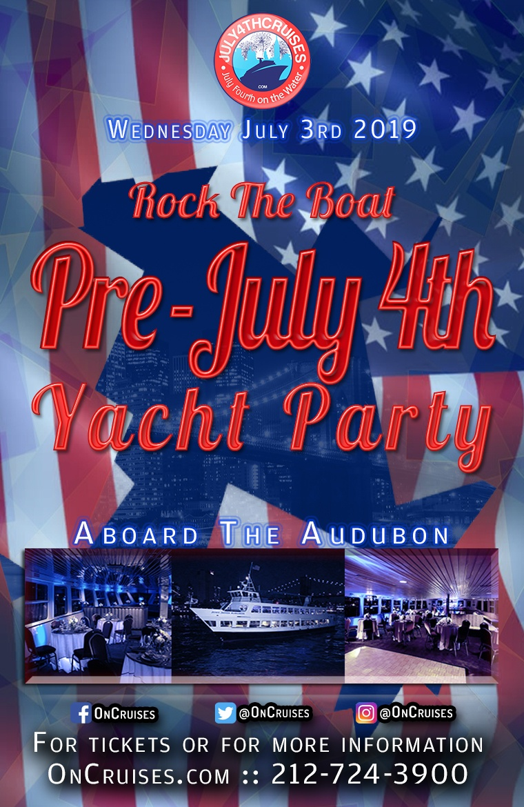 Rock the Boat: Pre July 4th Yacht Party Aboard the Audubon Yacht