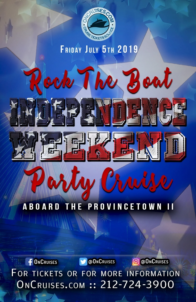 Rock the Boat: Independence Weekend Party Cruise Aboard the Provincetown II